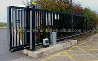 5m L * 1.5m H Electro galvanized and high security wireless control electro gates