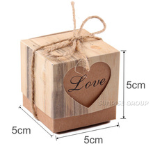 Kraft Paper Pillow Favor Candy Boxes Gift Box Wedding Party Packaging Box