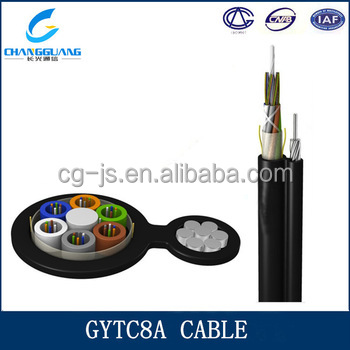 Cable manufacturer supply watertight PE sheath GYTC8A fiber optic clothing