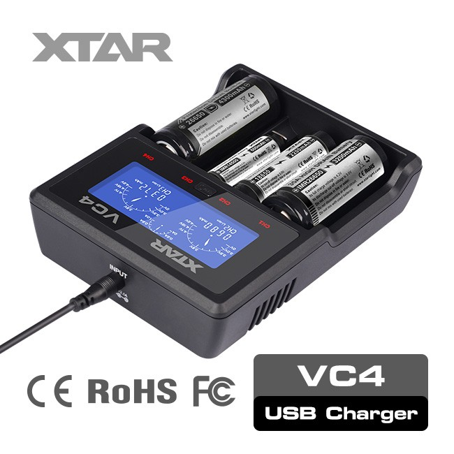 XTAR VC4 good quality 4 cells liion nimh nicd smart battery charger