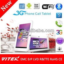 "New 7"" Android Dual Core Phone Calling 2013 top 10 Tablet pc"