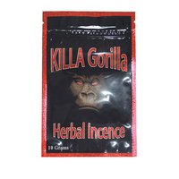 Free sample customized printing killa gorilla herbal incense bag