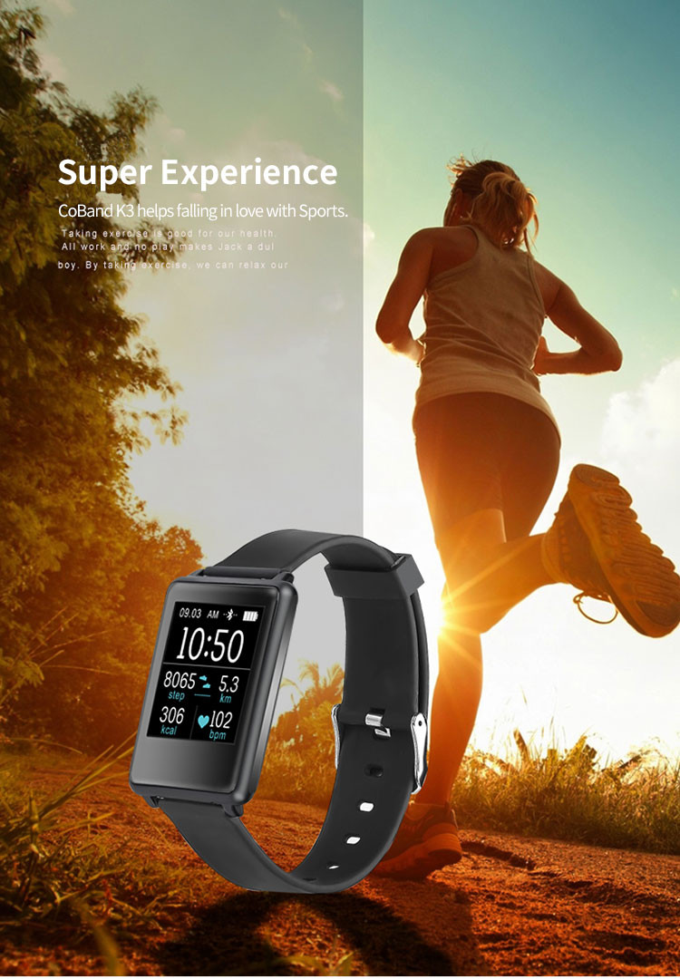 Super Size 1.44 Inch Screen Smart Band , Fitness Tracker Heart Rate Monitor & Health Tracker & IP67, sport bracelet