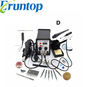 (Russian Stock) 2 in 1 Electric Soldering Iron Eruntop 8586 Hot Air Gun SMD Desoldering Rework Soldering Desoldering Station