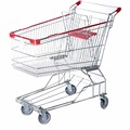 180L supermarket shopping trolleys with large capacity for wholesale