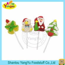 Halal candy christmas tree jelly lollipop gummy soft candy