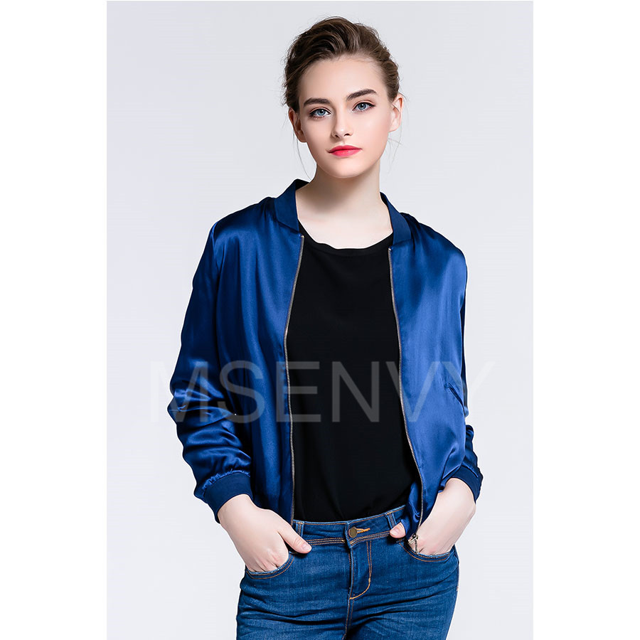 Women silk satin jacket