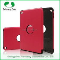Fancy book style universal rose gold color heavy duty shockproof hybrid TPU PC tablet case for Ipad mini4