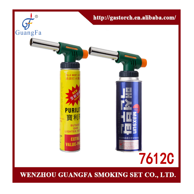 2016 butane gas torch 7612C 1300 degree C both for gas cartridge and gas lighter refill