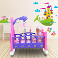 Baby Rocking Bed Furniture for Dolls,Crib Time Fun,Doll Cradle