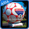 Custom Orange Inflatable Advertising Soccer Balloons Fall On The Planet