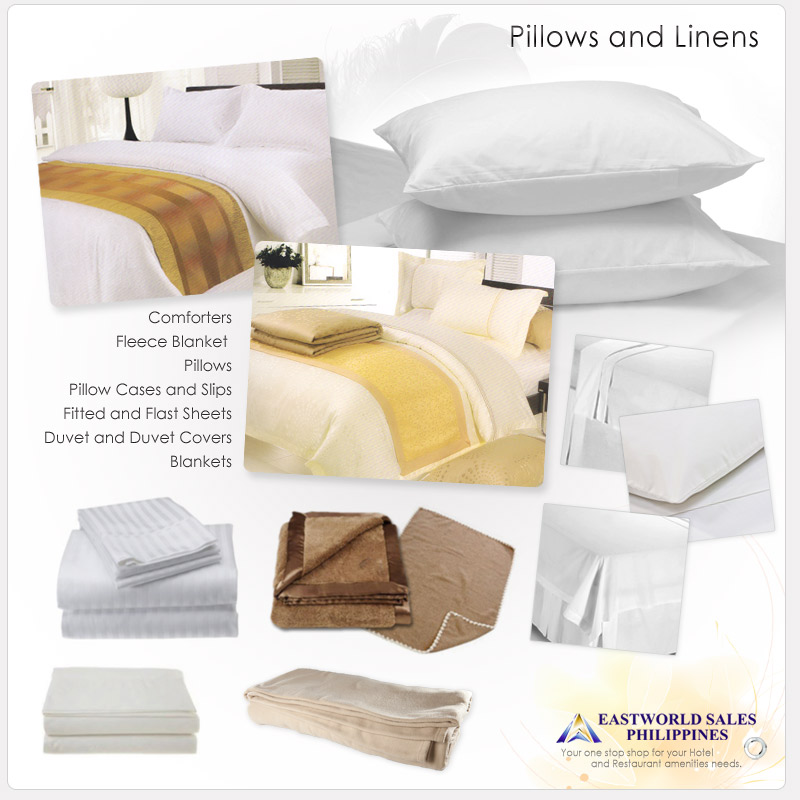 Hotel Pillows and Linens