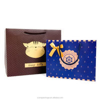 Best quality hot sale die cut handle butterfly paper gift bag