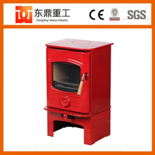 Red colour enamel steel wood burning stove/bio fireplace with best seller