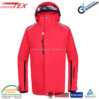 red ski jacket military for women