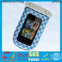 Fancy waterproof mobile hanging pouch for smartphone