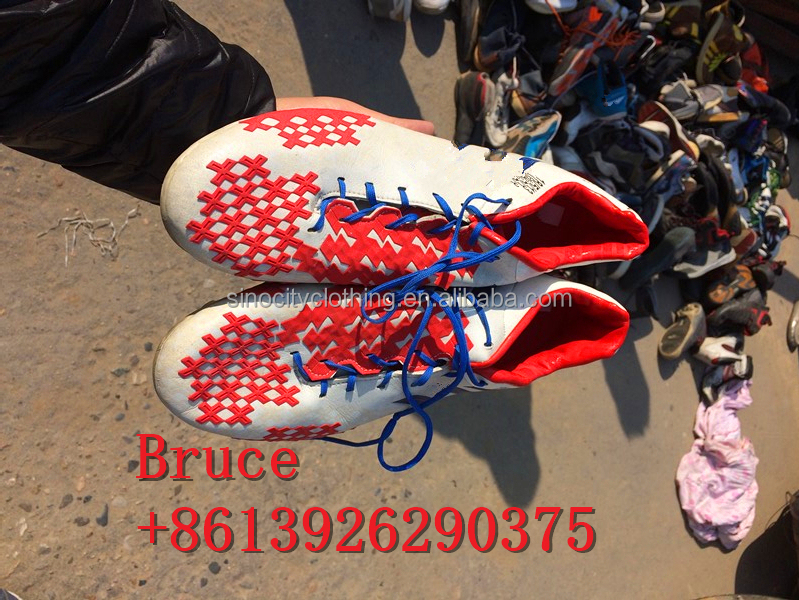 unsorted used football shoes wholesale used shoes from Thailand
