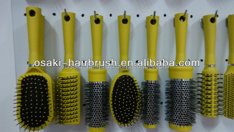 plastic hair brush set , hair brush with spray pump in ningbo