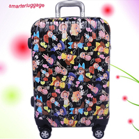 Cartoon Printed ABS/PC Hardside Rolling Suitcase