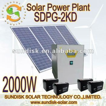 supply power solar system 2kw