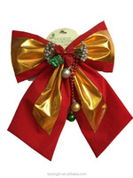 christmas tree decoration, christmas decor bowknot with bell ,