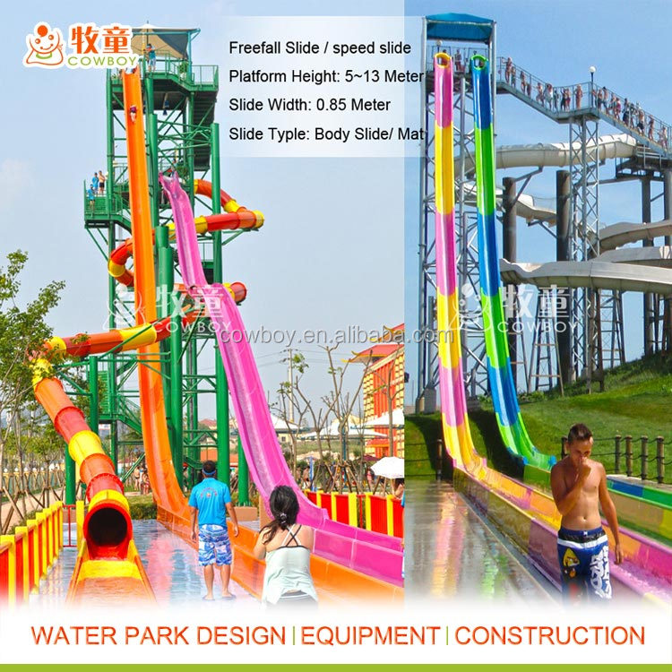 Exciting Fiberglass High speed water slides prices
