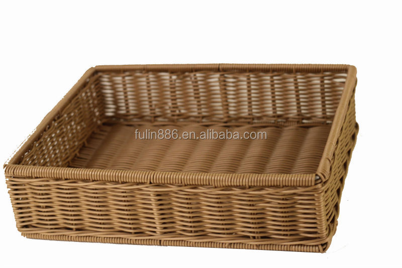Hot sales rectangle cane basket wholesale