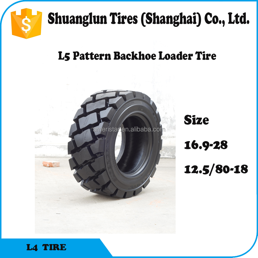 China ARMOUR brand Top tire factory backhoe loader tire 16.9-28