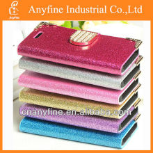 Bling Diamond Magnetic Flip Wallet Leather Hard Case For Apple iPhone 4 4S