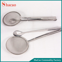 High Quality Frying Stainless Steel Strainer Tongs