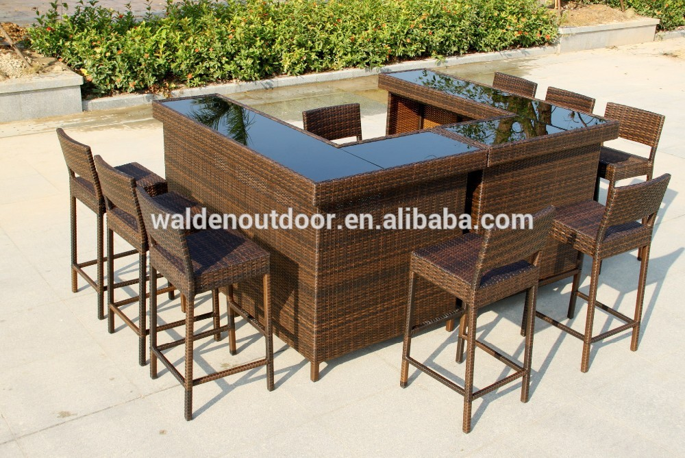 Bar en rotin ext rieur meubles chaise set de table lots de meubles en osier r - Meuble bar exterieur ...