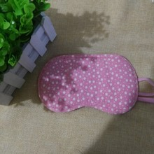 Small wholesale polyester-cotton printed eye patch with lovely pink two elastic band soft and comfortable washable belt eye mask