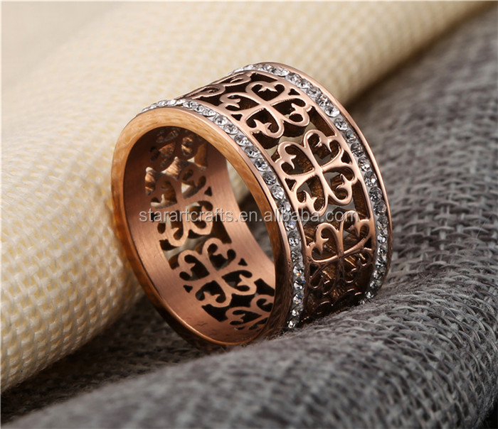Custom Wholesale rose gold stainless steel ring For Women,Popular classical diamond ring,Fashionable rose gold engagement ring