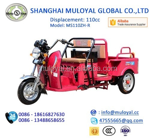 China Cargo Tricycle Motorized Gasoline Three Wheel Cycle for Cargo