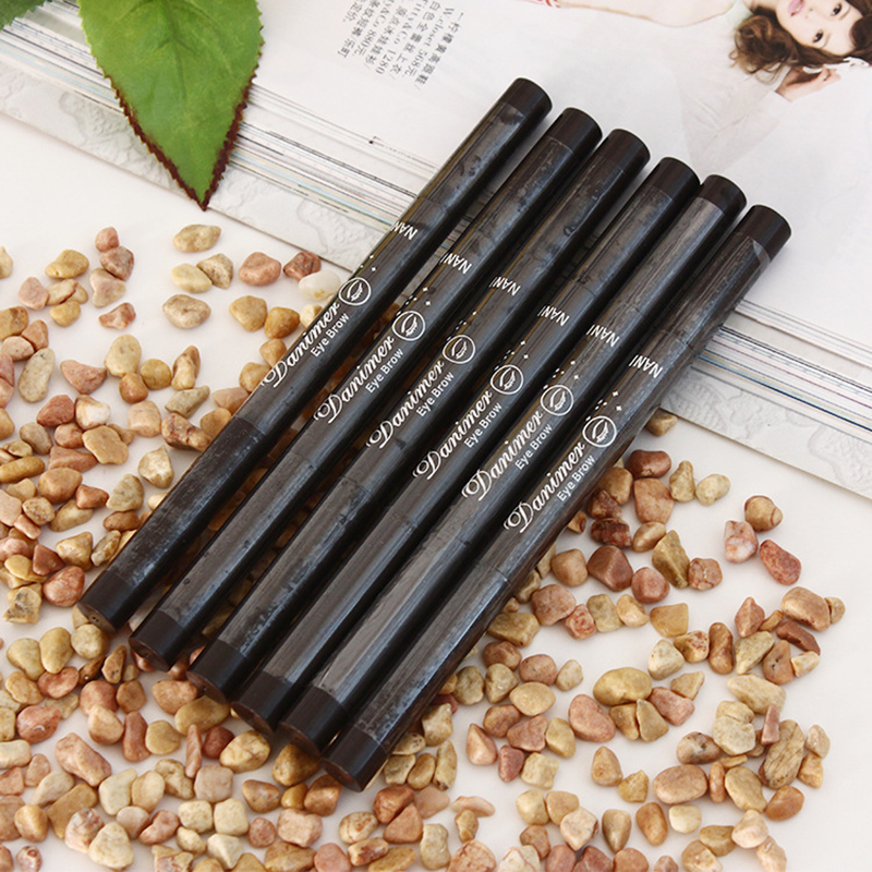 Five colors automatic waterproof eye brow pencil With brush Eye brow makeup Eye Brow Pen