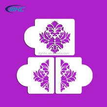 Damask cake stencil plastic cake stencil cake side decoration