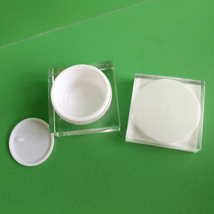 Alliwn customizable luxurious square empty acrylic cosmetic jar