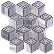 JY011Hot sale hexagon 3d bedroom wall tiles marble mosaic with high quality