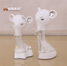 High Quality wed souvenir wed decorative items resin animal figure for sale