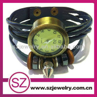 wholesale cuff genuine leather mens stylish watches