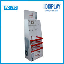 3 tier light bulb cardboard display stand in alibaba store