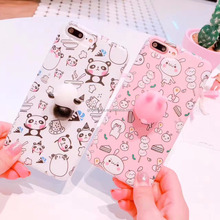 2017 Hot selling 3D TPU light weight plastic cell anime cute silicone phone case for iPhone 7