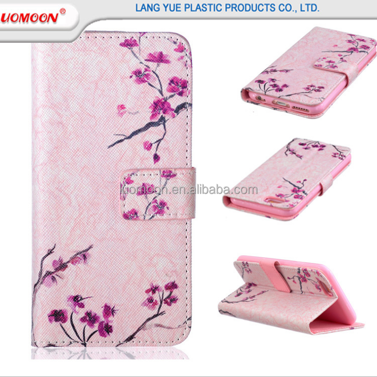 3D print cartoon cute custom design PU leather case with card slot for ipad for samsung with sling