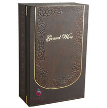 high end vintage leather wine box gift box