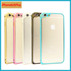 Top quality colorful luxury design phone case for iphone 6 case metal plating for iphone 6s/ 6s plus phone frame case