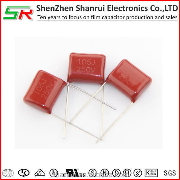Electronic Components Metallized Polyester Film Capacitor 250V 105k capacitor