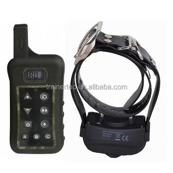 400meter rechargeable shock remote dog trainer collar for small and big dogs with CE&ROHS