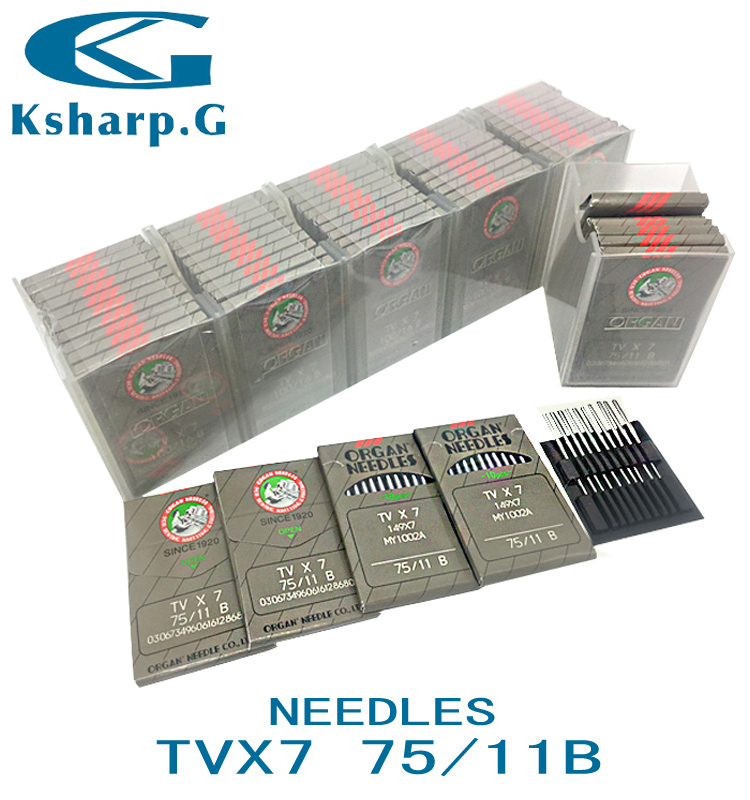 Industrial Sewing Machine Parts Sewing Needles TVX7 Japan Organ Needle for Double-Needle Chain Stitch Machine Use