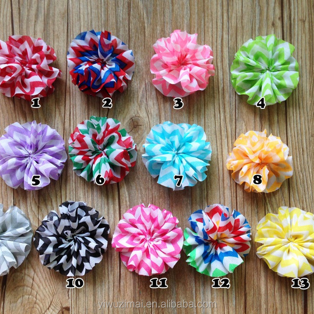 Shabby flower -Chiffon Frayed Flowers DIY Kids supplies Hair Accessories