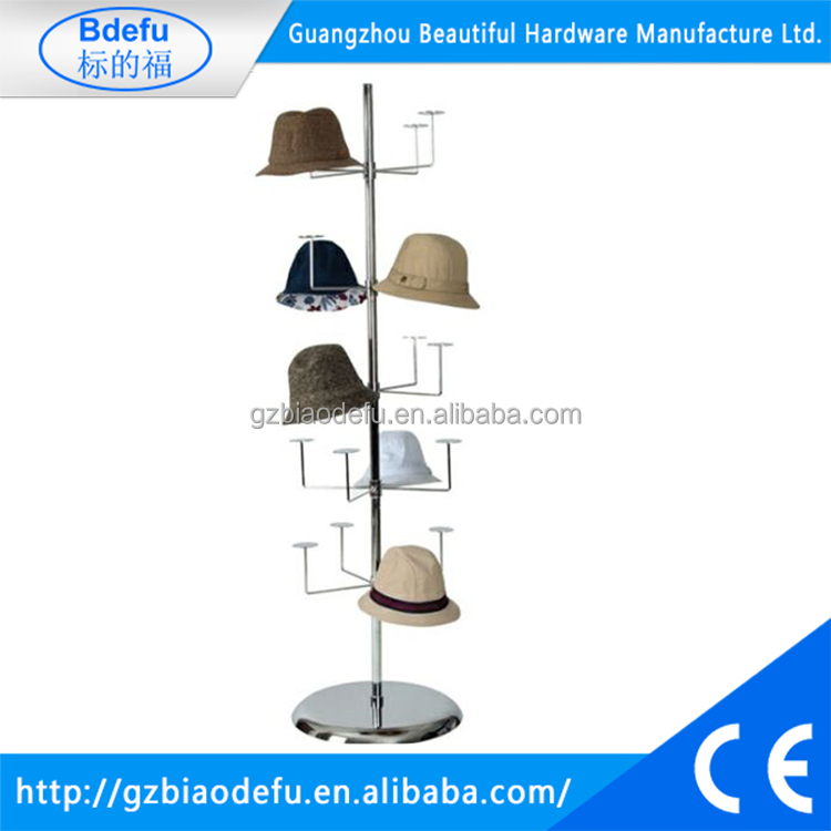 Freestanding Floor Stationary Revolving Display Hat Rack. H1625 x W480 x D470 mm